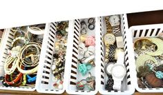 Baskets to organize jewelry-simple