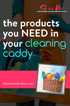 I used these 12 cleaning essentials to diy my own cleaning caddy. These ideas for double-duty products make cleaning faster and more efficient! Cleaning supply organization is so much easier! I love these tips on what to put in my cleaning basket.