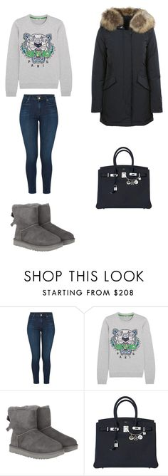 """""""Unbenannt #84"""" by adri-tursic ❤ liked on Polyvore featuring J Brand, Kenzo, UGG, Hermès and Woolrich"""