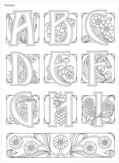 Art Nouveau Lettering 1 Part Gallery.ru / Фото - Art-Nouveau_Designs by Judy Balchin - KaramelkaN Motifs Art Nouveau, Design Art Nouveau, Bijoux Art Nouveau, Art Nouveau Pattern, Molduras Vintage, Jugendstil Design, Alphabet Art, Alphabet Stencils, Alphabet Design