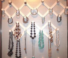 Design jewelry organizer wall display ideas (25)