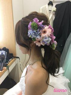 笑顔溢れるお二人のホテルウエディング♡♡ |大人可愛いブライダルヘアメイク『tiamo』の結婚カタログ