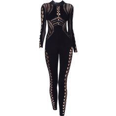 JulienMacdonald-editedbyelfemme ❤ liked on Polyvore featuring jumpsuits, dresses, bodysuit, pants, gowns and julien macdonald