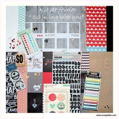 boutique Scrapatalie kit de février