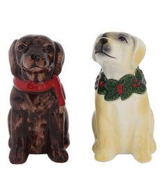 Look what I found on #zulily! Dog Salt & Pepper Shaker Set #zulilyfinds