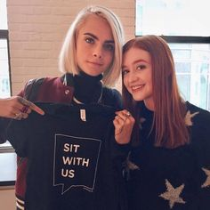 @sit.with.us: Check out our newest #SitWithUs ambassador!  Huge thanks to the amazing @caradelevingne for your kindness, and for shedding light on such important issues in order to give a voice to...