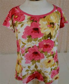 Beautiful Caribbean Joe Size Medium Floral Casual Island Wear Blouse #CaribbeanJoe #Blouse #Casual