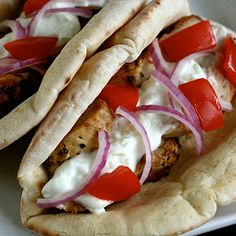 Chicken Gyros – the best dinner I've made in a LONG time.