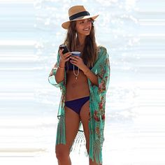 cc8968ff98 2017 Fashion V-neck Bikini Beach Cover Up Women Beach Wear Bathing Suit  Cover Beach Clothing
