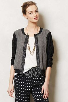 Anthropologie - Quilted Bomber Jacket