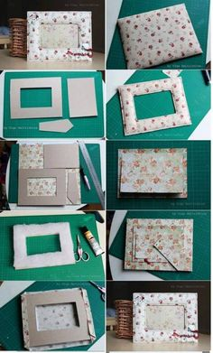 Make it Yourself Amazing Photo Frames Best Picture For Frame Crafts for kids For Your Taste You are Cardboard Crafts, Felt Crafts, Paper Crafts, Cardboard Box Storage, Cadre Photo Diy, Diy Photo, Decor Crafts, Diy And Crafts, Decor Diy
