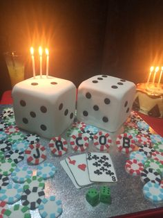 Casino night cake.. I know right, doesn't even look edible but trust me it was