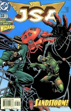 JSA 33 DC comics cover Justice Society of America Sandstorm