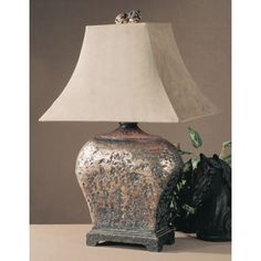 Uttermost Xander Atlantis Bronze Resin/ Metal Table Lamp