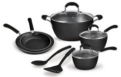 Clipper 315-00001 10-Piece Pantry Chef Aluminum Cookware Set, Black *** You can find more details by visiting the image link.