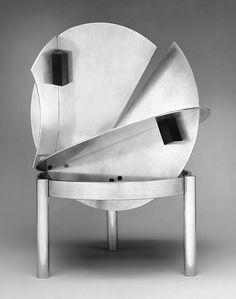 Lamp  Designer: Jacques Le Chevallier (French: 1896–1987) - Date:  1928 - Medium: Aluminum, ebonite