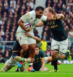 Billy Vunipola charges through the South Africa defence Rugby League, Rugby Players, Espn, South Africa, Icons, Football, Gray, History, Sports