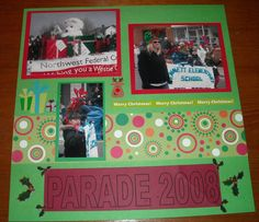 Christmas Parade Double Layout Page 2 - Scrapbook.com