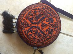 Beautiful Embroidered Circle Bag by Tufail on Etsy
