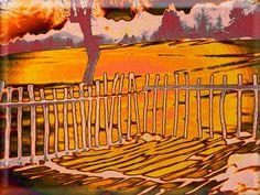 """'Glaskachel """"Eckzaun""""' von Rudolf Büttner bei artflakes.com als Poster oder Kunstdruck $18.71"""