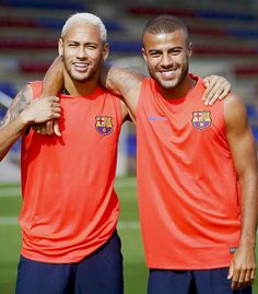 Neymar and Rafinha Alcantara
