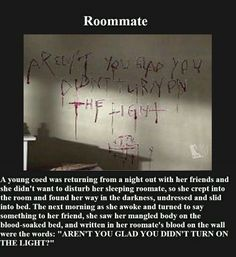 Creepypasta picture-stories #3: Roommate - Horror/creepy short stories