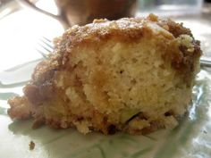 Gooseberry coffee cake - easy and very good - cut sugar and topping mixture in half
