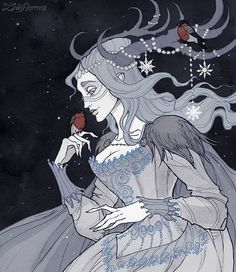 WEBSTA @irenhorrors Yule Spirit (Music: Ruth Barrett – The White Queen) Yule Blessings witches and witchers ❄❄ ________________ Art prints available in my shop, link in bio ✨