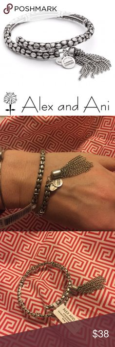 NEW Alex & Ani silver tassel wrap bracelet This is a NWT Nordstrom exclusive design. Vintage collection. Expands to fit any size wrist. Perfect present idea! 🎁 Alex & Ani Jewelry Bracelets