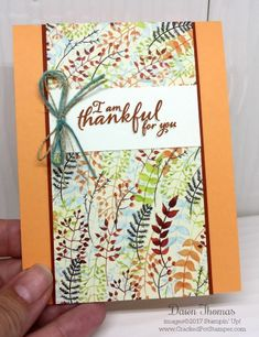Stampin' Up! Painted Autumn Suite Thank You card for DOstamper STARS Thursday Challenge #252. For details and instructions, please click through to my blog #crackedpotstamper #stampinup #paintedautumn #paintedharvest