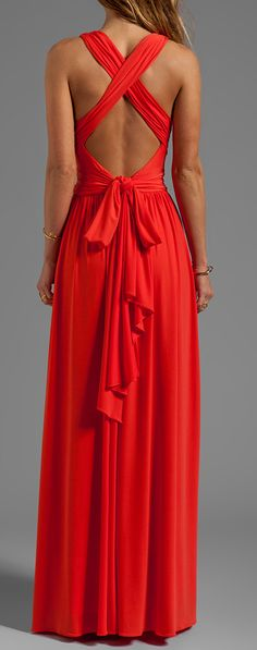 Crimson tie maxi, beautiful!