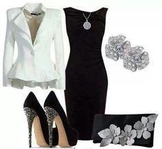 Love black & white...accents are even better!