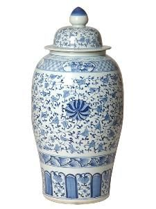 This lovely ginger jar features a hand painted blue and white design with a glossy glaze finish. The jar measures Chinoiserie Chic, Blue And White China, Burke Decor, Blue Rooms, Ceramic Decor, Ginger Jars, Outdoor Art, White Decor, Paint Designs