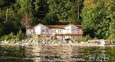 Seadream Bed and Breakfast is an oceanfront Bed & Breakfast north of Powell River. Stay for the breathtaking views, stunning sunsets, delicious breakfast and wonderful wildlife. Sunshine Coast beauty, long walks on the beach, swimming & diving, kayaking & boating, peace and quiet. Tourism British Columbia Approved Accommodation
