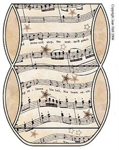 all kinds of free printable sheet music boxes;paper crafts