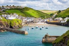 Fishing Village of Port Isaac, on the North Cornwall Coast, England UK
