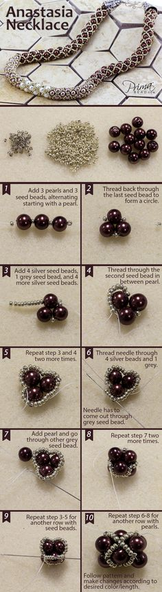 Master this filled tubular netting technique and see our full collection of bead weaving patterns! #DIY #jewelry #beads #beadweaving #seedbeads #project