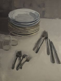 Stack of Plates with Flatware and Glasses.jpg