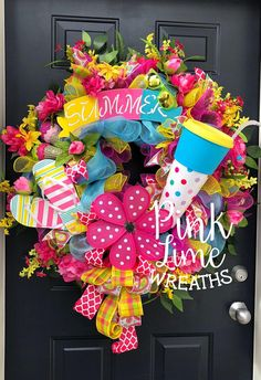 #pinklimewreaths #Summerwreathsforfrontdoor #summerwreath #summerwreaths #yellowsummerwreaths #pinksummerwreaths #decomeshsummerwreath