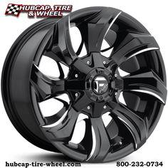 Fuel D571 Stryker gloss black & milled wheels & rims