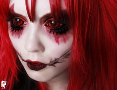 Sunpyre red black sclera lenses possess an intriguing and exciting pattern. The strokes of black adds a mysterious feeling in your eyes whic. Red Eyes Contacts, Colored Eye Contacts, Halloween Contacts, Halloween Makeup, Halloween Ideas, Halloween Costumes, Black Contact Lenses, Demon Makeup, Horror Makeup