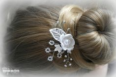 Bridal hairpin with foamiran flowers