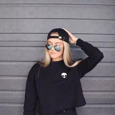 Women Clothing Feminina Loose Short Fleece Jumper Sweats Embroidery ET Aliens Hoodies Sweatshirts harajuku Crew Neck Sweats WY01