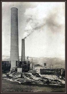 Washoe Smelter , Anaconda Montana  Photo  taken by Benj Mallory 1918