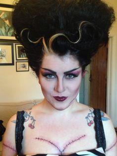 Bride of Frankenstein - make up by sarahlouiseelliott.org