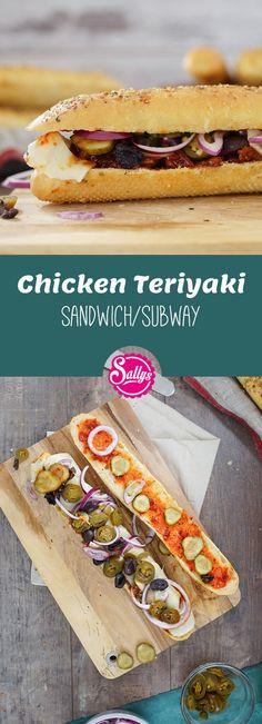 Ich bereite Murats Lieblings-Sandwich zu: das Chicken Teriyaki: Hähncheninnenfilets in einer würzigen Soße auf dem Cheese Oregano Brot.