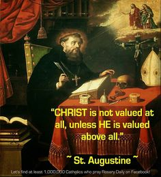 Quote from St Augustine. St Augustine Quotes, Augustine Of Hippo, Catholic Quotes, Catholic Prayers, Intelligent Quotes, Encouraging Thoughts, Motivational, Inspirational Quotes, Religious Pictures