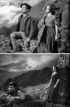 "Rex Downing, Sarita Wooton, Lawrence Olivier, and Merle Oberon in ""Wuthering Heights. Jean Harlow, Rita Hayworth, Hollywood Actor, Classic Hollywood, Marilyn Monroe, Merle Oberon, Tragic Love Stories, Bronte Sisters, Wuthering Heights"
