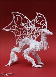 polymer clay dragon- very very cool!!