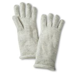 Women's Sparkly Knit Gloves - Ivory